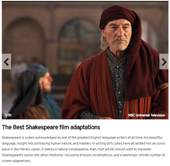 best shakespeares