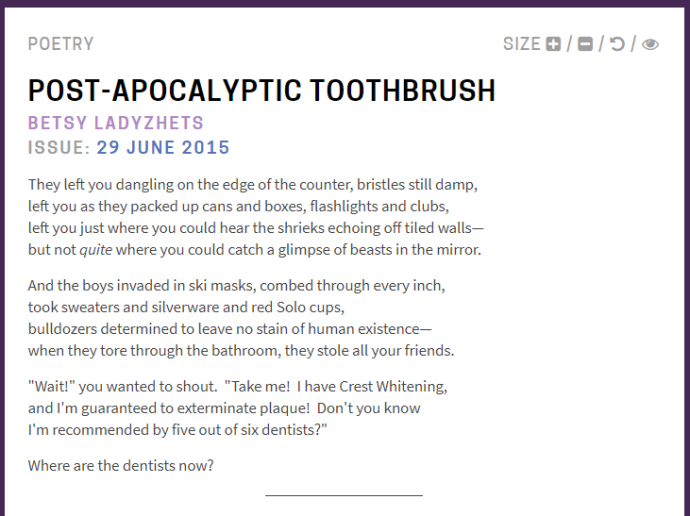 post apocalyptic toothbrush