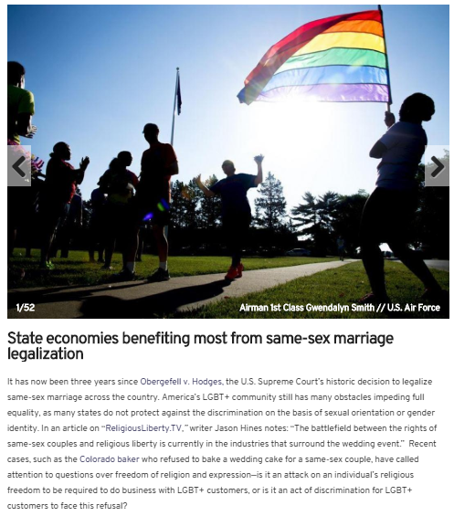 states benefitting most from same sex marriage