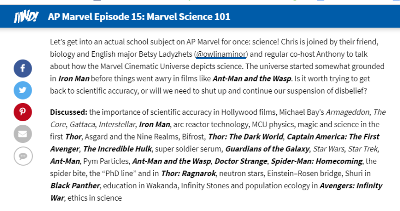 marvel science 101